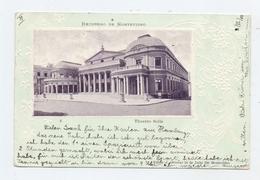 URUGUAY - MONTEVIDEO, Theatro Solis, Geprägt / Embossed / Relief, 1907 - Uruguay