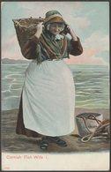 Cornish Fish Wife I, Cornwall, C.1905 - Peacock Postcard - England