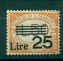 SAN MARINO 1943   SEGNATASSE  TIPO DEL 1927MNH** LUSSO - Segnatasse