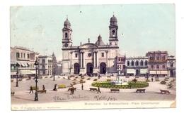 URUGUAY - MONTEVIDEO, Plaza Constitucion, 1907, Kl. Eckknick / AF - Uruguay