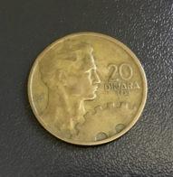 JUGOSLAVIA - 1955 - Moneta 20 DINARA , Ottima - Jugoslavia