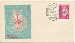 Argentina FDC 12-7-1958 International Geophysical Year With Cachet - International Geophysical Year