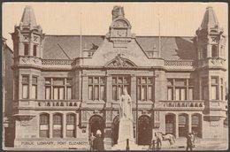 Public Library, Port Elizabeth, Cape Province, C.1910 - Hallis & Co Postcard - South Africa