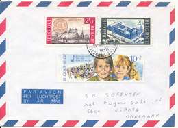 Belgium Air Mail Cover Very Good Stamped Sent To Denmark 1991 - Airmail