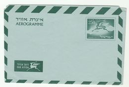 1957 ISRAEL 250 AEROGRAMME  Postal Stationery Cover Stamps Deer - Israel