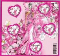 8Feuillet Neuf** Non Plié N° 127  Saint Valentin Emanuel Ungaro, Lettre Prioritaire 20 Grammes, Valeur Faciale 5,8 Euros - Blocs & Feuillets
