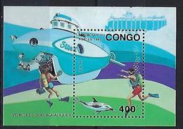"""Congo Bloc YT ??? MI 112 """" Véhicules Sub-aquatiques """" 1993 Neuf** - Congo - Brazzaville"""