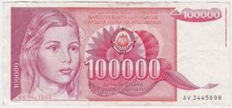 Yugoslavia P 97 - 100000 100.000 Dinara 1989 - VF - Jugoslavia
