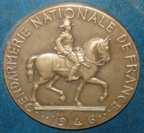 Medaille 1946 GENDARMERIE NATIONALE DE FRANCE.Bronze.50 Mm.Signée Rispal - Police & Gendarmerie