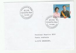 2000  LUXEMBOURG ACCESSION EVENT COVER Royalty Stamps - Covers & Documents