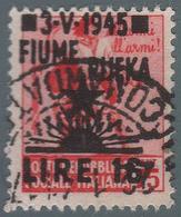 Occupazione Jugoslava: FIUME - Monumenti Distrutti Lire 16 Su 75 C. Rosa - 1945 - Altri