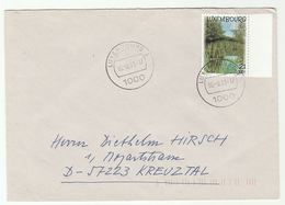 2001 LUXEMBOURG COVER Stamps EUROPA - Covers & Documents