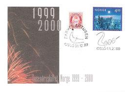 Norway 1999-2000 Millenium Good Bye 1900-years , Welcome 2000 Mi 1335, Cover - Briefe U. Dokumente