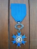 Médaille Du Mérite, Centre Argent. - France
