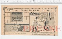 2 Scans 1907 Humour Punition (thème Fessée) Carreau Des Halles Auvergnat ? Bain Du Charbonnier ?? Fouchtra Bottin PF222B - Old Paper