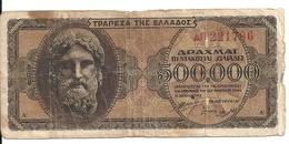 GRECE 500000 DRACHMAI 1944 VG+ P 126 - Grecia