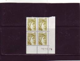 N° 1971- 0,80F Sabine De GANDON - 3° Tirage - Du 15.11.78 Au 18.11.78 - 15.11.1978 ( 2 Traits) - Dated Corners