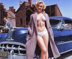 'Stars In Cars'  -   Marilyn Monroe  -  Pontiac Star Chief   -  15x10 PHOTO - Passenger Cars