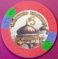 $5 Casino Chip. Aladdin, Las Vegas, NV. E37. - Casino