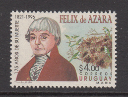 1996 Uruguay Azara Naturalist Birds Ornithology  Complete Set Of 1 MNH - Uruguay