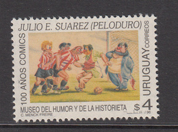 1996 Uruguay Cartoons Football Art  Complete Set Of 1 MNH - Uruguay