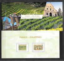 2017 - France - Philippines   Souvenir Philarélique - Souvenir Blocks & Sheetlets