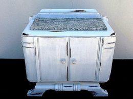 """Table De Chevet Style Art Déco Revisitée Dans Une Ambiance """" Shabby Chic """" - Furniture"""