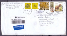 Lithuania (Lietuva) To Pakistan Used Traveled Cover (EN-24) - Lithuania