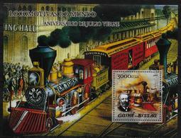 GUINEE BISSAU  BF 235  * *  ( Cote 15e ) Trains A Vapeur Jules Verne - Trains
