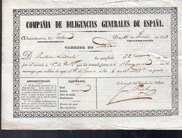 (Espagne) Compania De Diligencias Generales De Espana  1843 (PPP8918) - Other