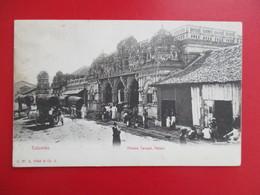 CPA SRI LANKA CEYLON COLOMBO HINDOO TEMPEL PETTAH ANIMEE - Sri Lanka (Ceylon)