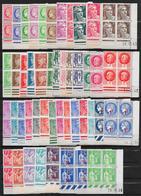 T 00581 - France, 46 Coins Datés Neufs Luxe TOUS DIFFÉRENTS - Dated Corners