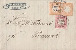 DR Brief Mif Minr.2x 18, 19 K1 Berlin Nr.25  21.12.74 Gel. Nach Poesneck - Briefe U. Dokumente