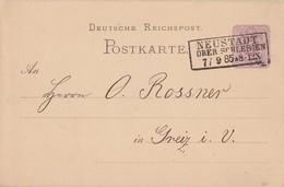 DR Ganzsache R3 Neustadt Oberschlesien 7.9.85 Gel. Nach Greiz - Deutschland