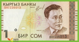 Voyo KYRGYZSTAN 1 Som 1999(2000) P15 B210a BH UNC Music - Kirgizïe