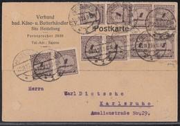 DR Karte Mef Minr.10x 325A Heidelberg 22.11.23 Geprüft - Deutschland