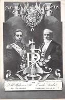 FAMILLES ROYALES ( ESPANA Espagne ) S.M. ALPHONSE XIII  Roi D'Espagne Et EMILE LOUBET Président Rép. Française - CPA - Familles Royales