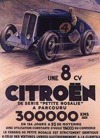 Citroen 8CV 'Petite Rosalie'  -  Parcour 300,000kms En 134 Jours  -  Publicité  -  15x10 PHOTO - Voitures De Tourisme