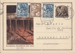 DR GS Minr.P250 Zfr. 499, 2x 500 Köln 2.3.34 Gel. Nach Argentinien - Briefe U. Dokumente