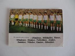 Football Futebol World Cup México 86 Bulgaria Team Portugal Portuguese Pocket Calendar 1986 - Calendars