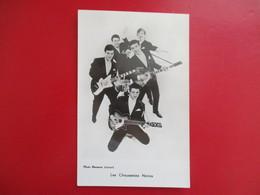 CPA PHOTO LES CHAUSSETTES NOIRES GUITARES EDDY MITCHELL PHOTO HERMANN LEONARD - Musique Et Musiciens