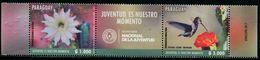 XD0832 Paraguay 2017 Flowers And Hummingbirds Cross The Bridge 2V MNH - Hummingbirds