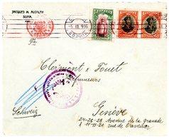 BULGARIE ENV 1916 SOPHIA OMEC => SUISSE - 1909-45 Royaume
