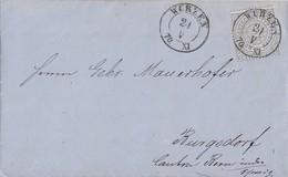 NDP Brief EF Minr.17 Wurzen 24.5.70 Gel. In Schweiz - Norddeutscher Postbezirk