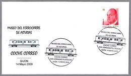 COCHE CORREO - Postal Vagon. Gijon, Asturias, 2009 - Correo Postal