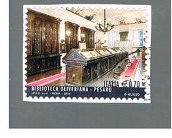 ITALIA REPUBBLICA  -   2014   -   BIBLIOTECA PESARO    -   USATO  ° - 6. 1946-.. Repubblica