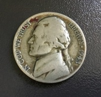 USA / STATI UNITI - 1943. - Moneta 5 CENTS Jefferson ARGENTO - Emissioni Federali