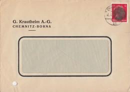 Sächsische Schwärzung Brief EF Minr.788I Chemnitz - Sowjetische Zone (SBZ)