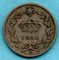 (r65)  ITALY / ITALIE  20 Centesimi 1894 R - 1861-1946 : Kingdom
