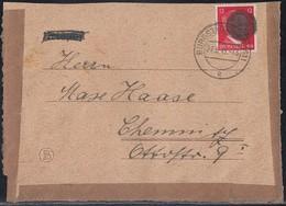 Sächsische Schwärzung Briefvorderseite EF Minr.788III Burgstädt 27.5.45 - Sowjetische Zone (SBZ)